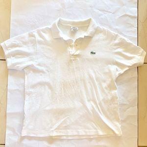 White Lacoste Polo Size 5